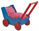 Poppenwagen blue-red - Haba