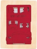 Houten Puzzel - London bus