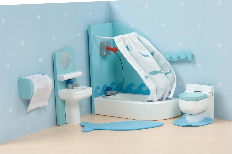 Badkamer Voor Poppenhuis : Badkamer badset poppenhuis badset poppenhuis badkamer set blauw