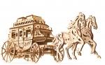 UGears Koets met paarden
