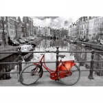 Legpuzzel - 1000 -  Amsterdam black en rood