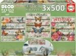 Legpuzzel - 3x500 - Country Garden