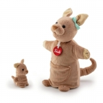 Handpop Kangoeroe met baby - Trudi