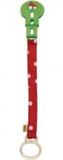 Speenketting rood met witte stippen - Haba