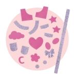 ma Cherie - Extra decoraties roze