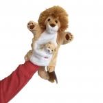 Handpop Leeuw met baby - Trudi