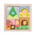 Houten puzzel - Bos - Petilou
