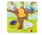 Houten dieren puzzel - Petilou