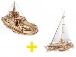 UGears voordeelpakket - 2 boten