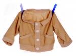 Handpoppen kleding - Beige jasje