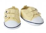 Schoentjes geel met klitteband - 65 cm