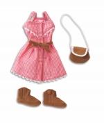 Corolle - Geruite mouwloze jurk