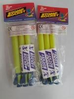 Aanvulset 3st Rocket lanceer rood met blauw