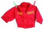 Kleding handpoppen - Rood vest