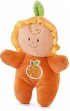 Trudi - sinaasappel-popje met rammelaar - 9cm