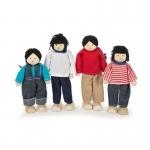 Aziatische poppenhuisfamilie - Tidlo