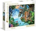Legpuzzel Tijgers bij waterval - 1500 - Clementoni