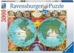 Legpuzzel - 3000 - Antieke kaart Ravensburger