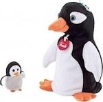 Handpop Pinguin met baby - Trudi
