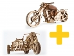Voordeelpakket UGears - 2 (zijspan) motoren