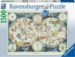 Legpuzzel - 1500 - Wereldkaart met dieren