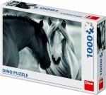 Legpuzzel - 1000 - Paarden zwart wit
