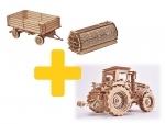 Voordeelpakket Wood.Trick tractor en trailer