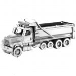 Freightliner Dump Truck 114SD - Metal Earth