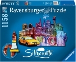 Legpuzzel - 1158 - Silhouette Skyline New York