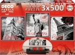 Legpuzzel - 3x500 - Wereldsteden