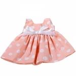 Zalmroze jurk met stippen - 45-50cm - Götz