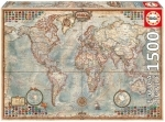 Legpuzzel - 1500 - Politieke wereldkaart
