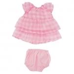 Baby Stella - Roze jurk - 35cm