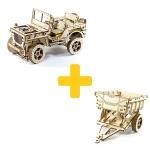 Voordeelpakket WoodenCity Jeep en Trailer