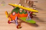 UGears Kleurenmodel - Dubbeldekker vliegtuigje