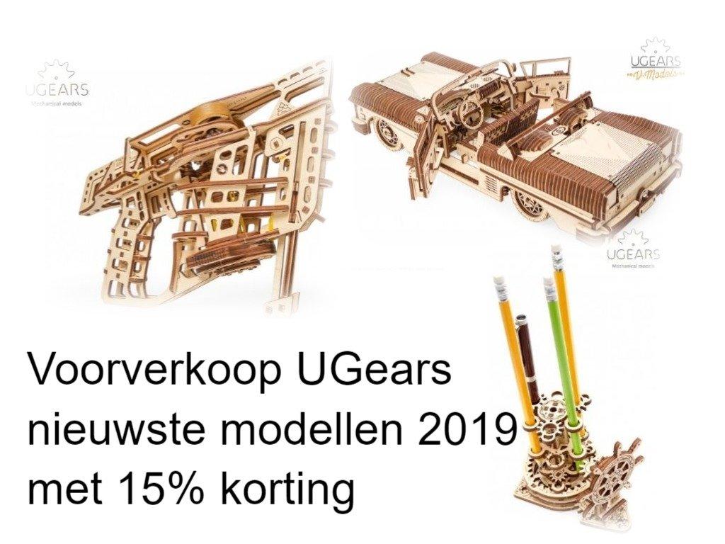 Voordeelpakket UGears 3 nieuwste modellen 2019