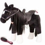 Zwart paard met vlecht - Götz