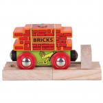 Bigjigs - Wagon met bakstenen