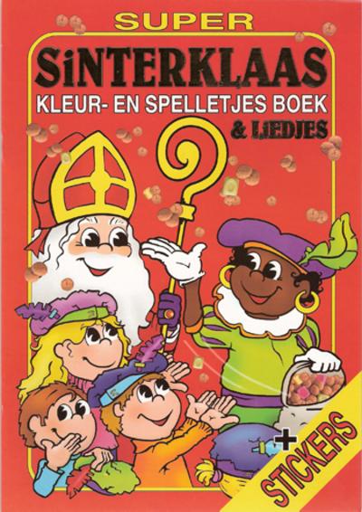 Sinterklaas kleur- en spelletjes boek klein