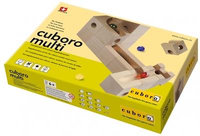 Cuboro houten knikkerbaan Multi