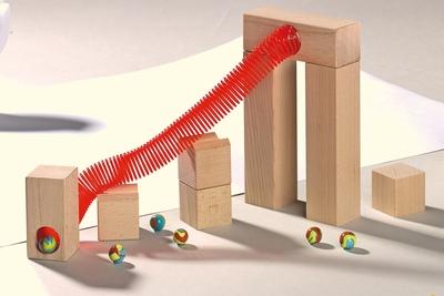 Haba knikkerbaan - Uitbreiding - Spiraalbaan