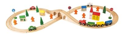 Houten treinset - Legler