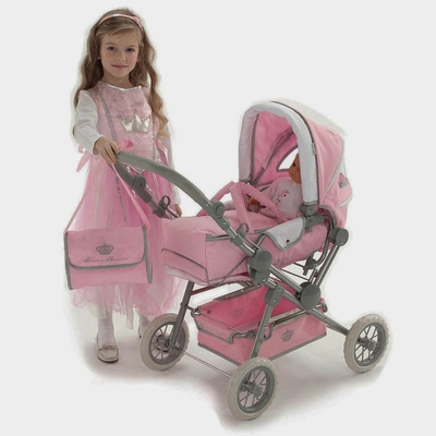 Knorrtoys - Poppenwagen Maja Princess Deluxe roze