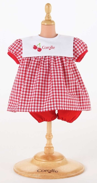 Corolle - Rode jurk - 42- 44cm