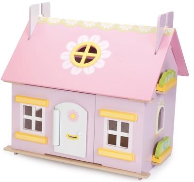 Poppenhuis Daisy's Cottage, met meubeltjes! - Le Toy van