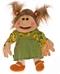 Handpop - kleine Emma met groen jurkje
