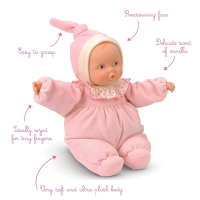 Corolle - Baby roze gestreept - 28cm