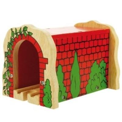 Rode houten spoortunnel - Bigjigs