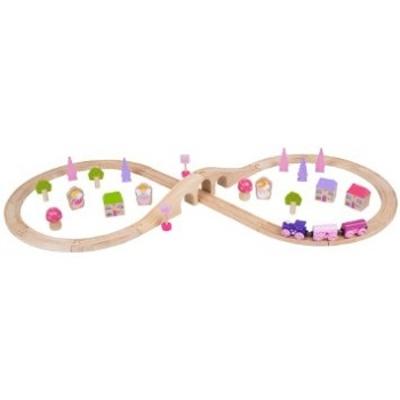 Houten treinset - roze - Bigjigs