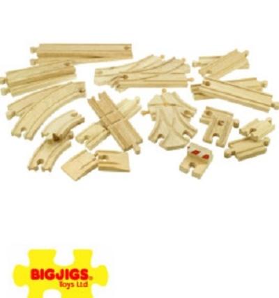 Set rails - 25 stuks - Bigjigs